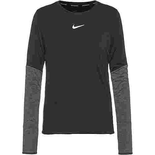 Nike Runway Funktionsshirt Damen black-black-black-reflective silv
