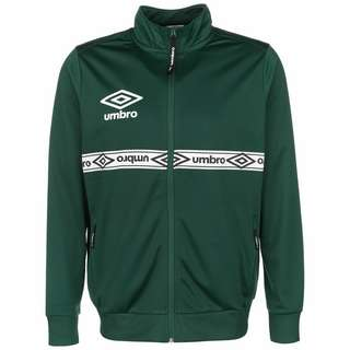 UMBRO Taped Track Trainingsjacke Herren dunkelgrün / weiß