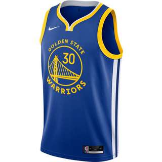 Nike Stephen Curry Golden State Warriors Trikot Herren rush blue-white-amarillo