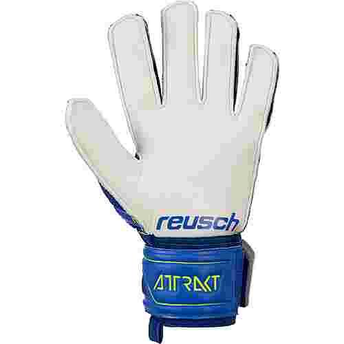 Reusch Attrakt SD Super Durable Torwarthandschuhe deep blue/safety yellow