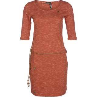 Ragwear Tanya Slub Kurzarmkleid Damen orange