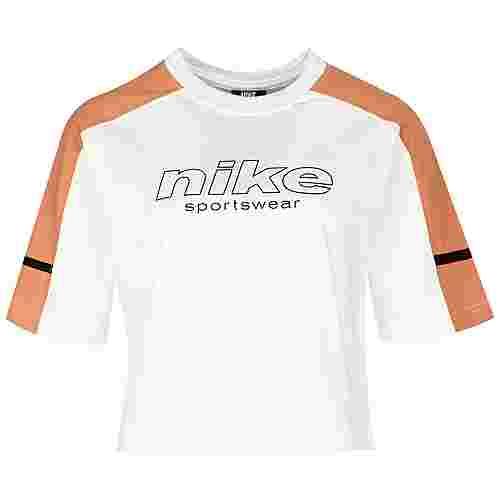 Nike Top Archive Remix T-Shirt Damen weiß / orange