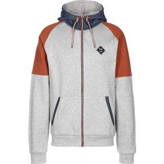 iriedaily Sportswear Sweatjacke Herren grau/meliert