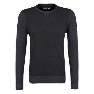 REPLAY mit Rundhals Strickpullover Herren navy
