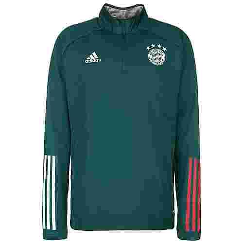 adidas FC Bayern München Warm Funktionssweatshirt Herren dunkelgrün / rot