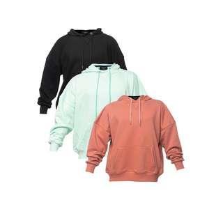 Tom Barron mit Tasche 3er Set Sweatshirt Damen schwarz / rosepink / mint