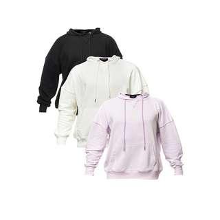 Tom Barron mit Tasche 3er Set Sweatshirt Damen schwarz / lila / weiß