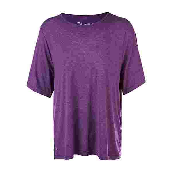 Q by Endurance FLORA MELANGE PLUS SIZE Funktionsshirt Damen 4105 Deep Purple
