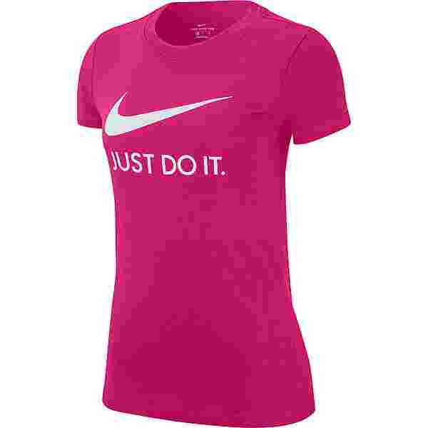 Nike NSW T-Shirt Damen FIREBERRY-WHITE