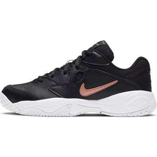 Nike Court Lite 2 Tennisschuhe Damen black-mtlc red bronze-white