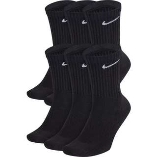 Nike Everyday Cush Crew 6 Pack Socken Pack black-white