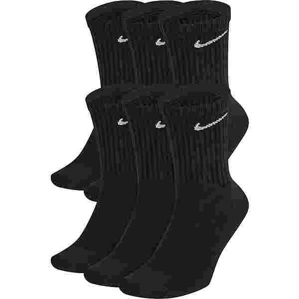 Nike Everyday Cush Crew 6 Pack Socken Pack black-white