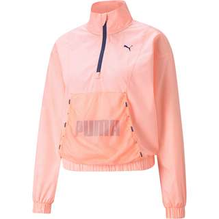 PUMA Train Logo Funktionssweatshirt Damen elektro peach