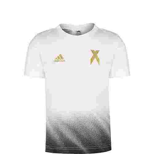 adidas Football-Inspired X Aeroready T-Shirt Kinder weiß / schwarz