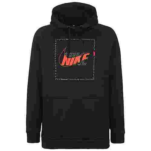 Nike Therma Hoodie Herren schwarz / orange