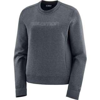Salomon Comet Sweatshirt Damen ebony-heather
