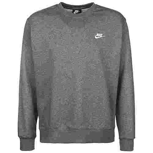 Nike Club Crew French Terry Sweatshirt Herren dunkelgrau / weiß