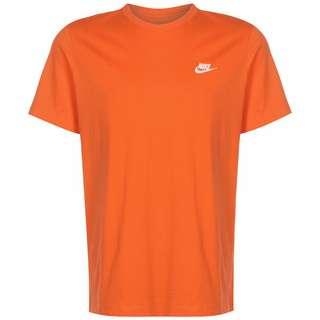 Nike Club T-Shirt Herren orange / weiß