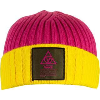 Vans 66 Supply Beanie Damen pink/gelb