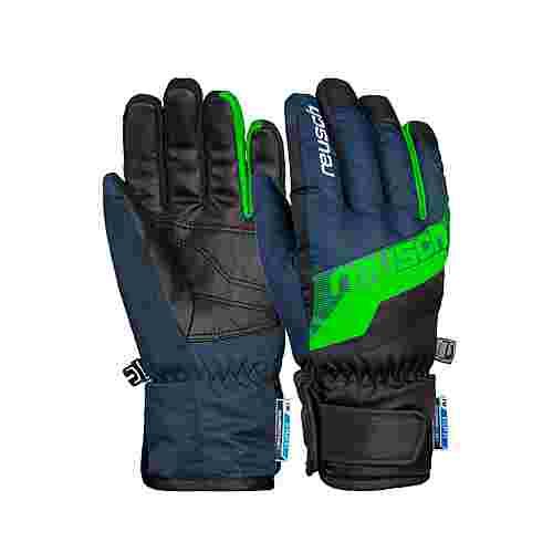 Reusch Dario R-TEX® XT Junior Skihandschuhe Kinder dress blue/neon green