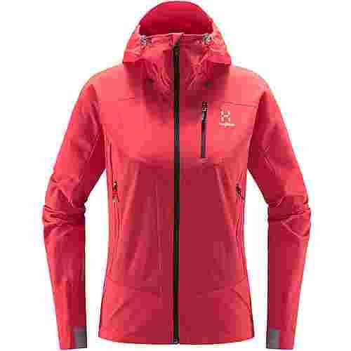 Haglöfs Skarn Hybrid Jacket Softshelljacke Damen Hibiscus red