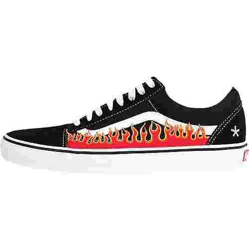 Vans Old Skool 'Heat' Sneaker schwarz flammen