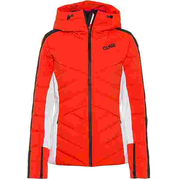 COLMAR Daunenjacke Damen lobster-white-black