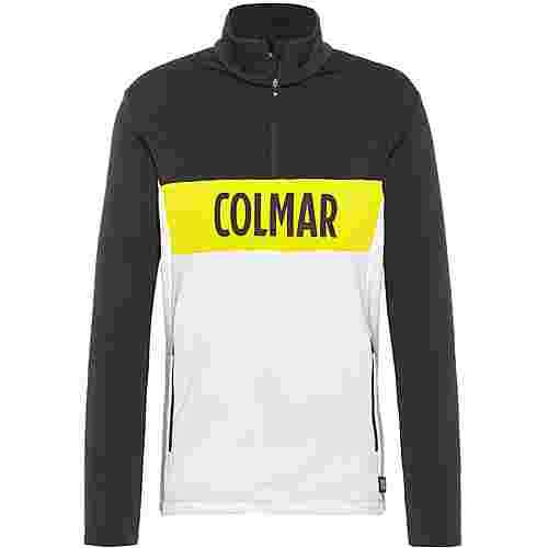 COLMAR Sweatshirt Herren white-black-lime