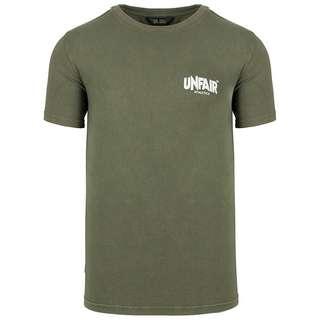 Unfair Athletics Classic Label Taped T-Shirt Herren oliv / schwarz