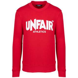 Unfair Athletics Classic Label Crewneck Sweatshirt Herren rot / weiß