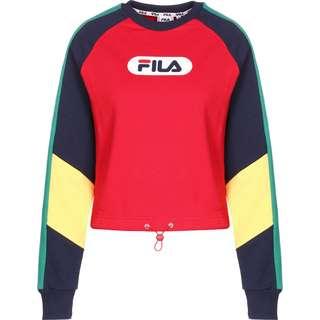 FILA Bane Blocked Cropped Sweatshirt Damen rot/blau/gelb
