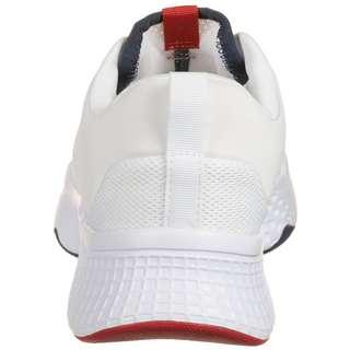 Lacoste Court-Drive Sneaker Damen weiß / rot
