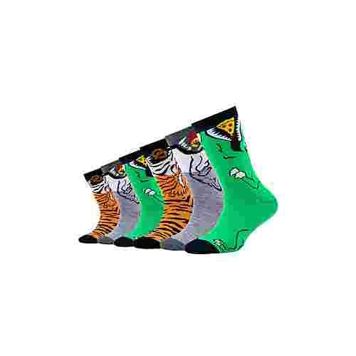Skechers Tier-Motiv Sneakersocken light grey melange