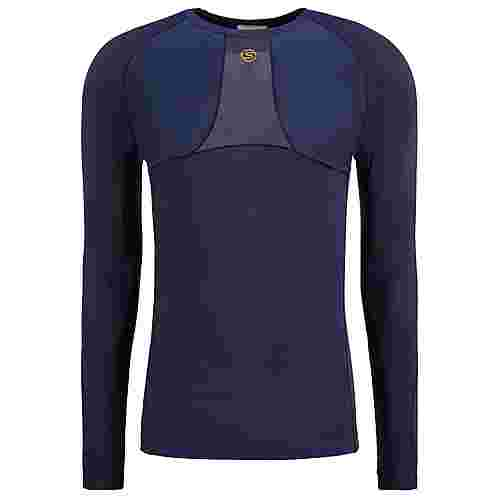 Skins S5 Longsleeve Kompressionsshirt Herren Navy Blue