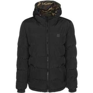 Urban Classics Reversible Hooded Puffer Winterjacke Herren schwarz/multi