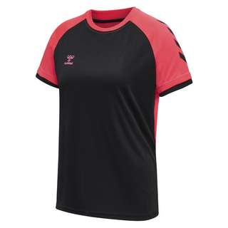 hummel hmlACTION JERSEY S/S WOMAN T-Shirt Damen BLACK/DIVA PINK