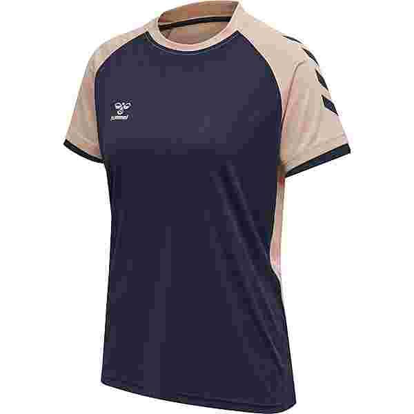 hummel T-Shirt Damen MARINE/DUSTY PINK
