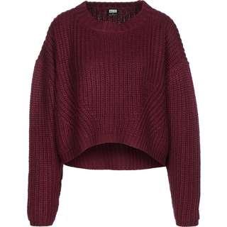 Urban Classics Wide Oversize Sweatshirt Damen weinrot