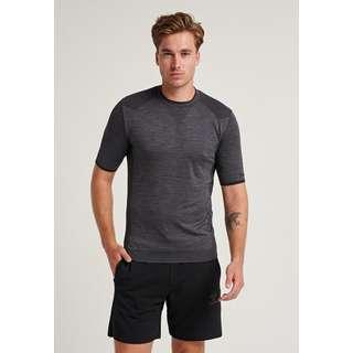 hummel hmlTRACKER SEAMLESS T-SHIRT T-Shirt Herren BLACK MELANGE