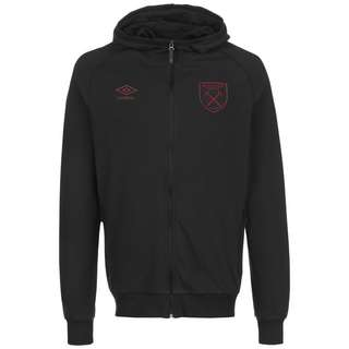 UMBRO West Ham United Travel Sweatjacke Herren bordeaux / hellblau