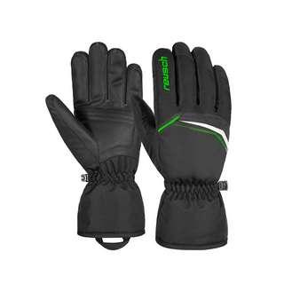 Reusch Snow King Skihandschuhe black / neon green
