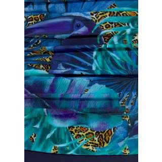 Lascana Badeanzug Damen blau-bedruckt