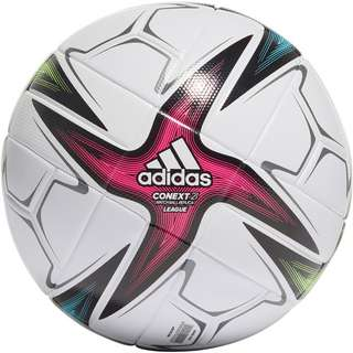 adidas CNXT21 League Fußball white-black-shock pink-signal green