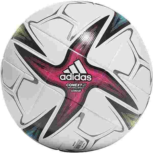 adidas CNXT21 League Fußball white-black-shock pink-signal green