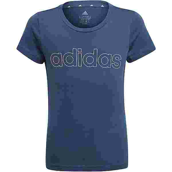 adidas Essentials Linear T-Shirt Kinder crew navy