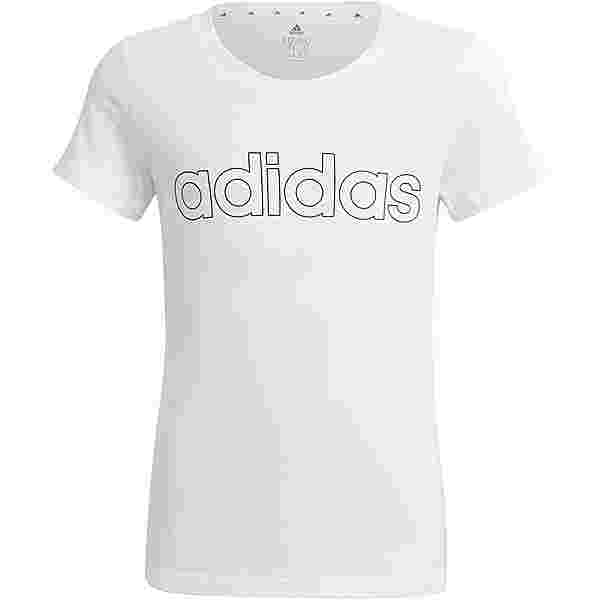 adidas Essentials Linear T-Shirt Kinder white