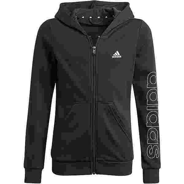 adidas Essentials Linear Kapuzenjacke Kinder black