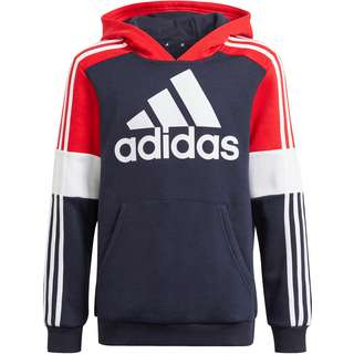 adidas Essentials Fleecehoodie Kinder legend ink-vivid red-white