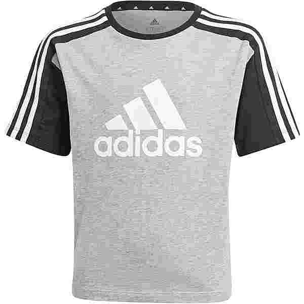 adidas Essentials T-Shirt Kinder medium grey heather-black-white