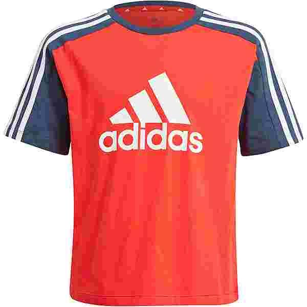 adidas Essentials T-Shirt Kinder vivid red-crew navy-white